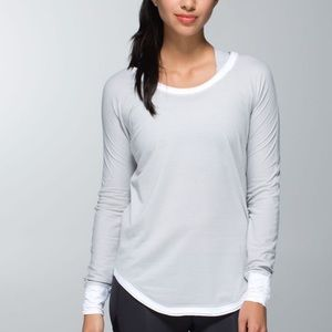 Lululemon Lightened Up Long Sleeve Heathered Light